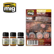 MIG Productions  MIG Weathering PIGMENT RUST SET MIG7400