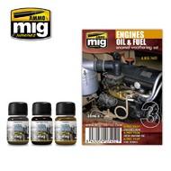 MIG Productions  MIG Weathering ENGINES SET  MIG7402
