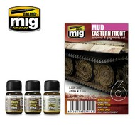 MIG Productions  MIG Weathering EASTER FRONT MUD SET MIG7405