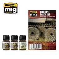 MIG Productions  MIG Weathering EUROPE EARTH SET  MIG7408