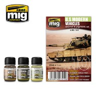 MIG Productions  MIG Weathering US MODERN VEHICLES SET MIG7410