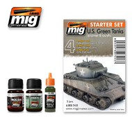 MIG Productions  MIG Weathering US GREEN VEHICLES SET  MIG7413