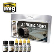 MIG Productions  MIG Weathering JET ENGINES COLORS AND WEATHERING SET MIG7445