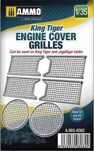 Ammo by Mig Jimenez  1/35 King Tiger Engine Cover Grilles AMM8082