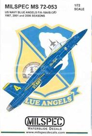 US Navy Blue Angels F-18A F-18B F-18C F-18D Hornet 1987, 2001 & 2006 Seasons #CAMMS72053