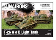 MINAIRONS MINIATURES  1/100 Spanish Civil War: T26A/B Light Tank (5) (Plastic) MXR1505