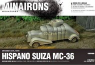 MINAIRONS MINIATURES  1/100 Spanish Civil War: Hispano Suiza MC36 Armored Truck (1) (Resin) MXR1508