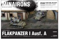 MINAIRONS MINIATURES  1/100 WWII Flakpanzer I Ausf A Tank (2) w/Crew (Plastic w/Resin Parts) MXR1601