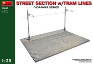 MiniArt Models  1/35 Street Section w/Tram Lines Diorama Base  MNA36040