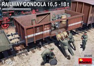 WWII 16.5 18-Ton Railway Gondola w/Figures & Accessories #MNA35296