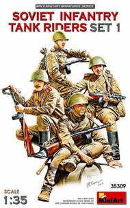 WWII Soviet Infantry Tank Riders Set 1 (4) (New Tool) #MNA35309