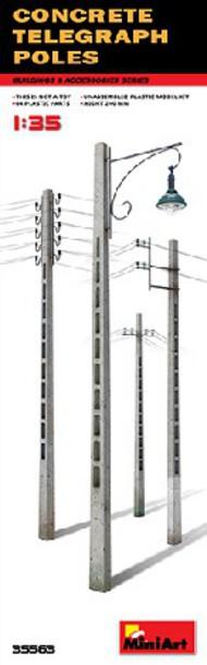 Concrete Telegraph Poles (4 diff. types) #MNA35563