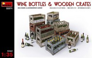 MiniArt Models  1/35 Wine Bottles & Wooden Crates MNA35571