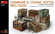 Champagne & Cognac Bottles w/Crates #MNA35575