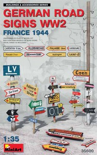 WWII German Road Signs France 1944 (New Tool) (MAY) #MNA35600