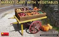 Market Cart w/Vegetables & Wooden Crates #MNA35623