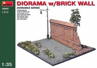 Diorama base with Brick Wall and lamp post - Pre-Order Item #MNA36055