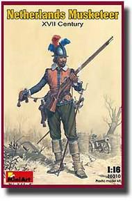 MiniArt Models  1/16 Netherlands Musketeer, XVII Century MNA16010