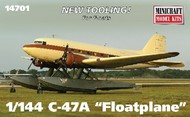 Minicraft  1/144 C-47A Gooney Bird Aircraft w/Floats (New Tool) - Pre-Order Item MMI14701