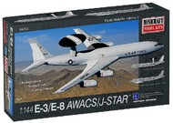 Minicraft  1/144 E3 AWACS/E8 Joint Star Aircraft- Net Pricing MMI14703
