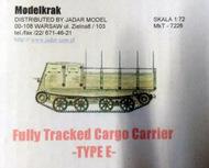 Model-Krak  1/72 TE - Japanese fully tracked cargo carrier MKR7226