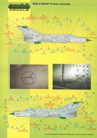 Mikoyan MiG-21PFM/MiG-21M/MiG-21MF/MiG-21bis/MiG-21UM Polish stencils #MMD48020