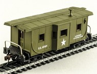 Model Power  N Bay Window Caboose US Army - Pre-Order Item MDP83132
