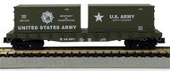 Model Power  N 50' Flatcar w/2 20' Containers US Army - Pre-Order Item MDP84055