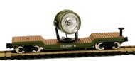 Model Power  N 40' Depressed Center Flatcar w/Operating Searchlight US Army (Re-Issue) - Pre-Order Item MDP84101