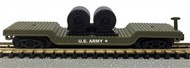 Model Power  N 40' Depressed Center Flatcar w/Cable Reels US Army - Pre-Order Item MDP84114