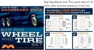 Moebius  1/25 Big Rig Wheel & Tire Set (10/pk) MOE1010
