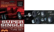 Moebius  1/25 Super Single Tractor Wheel & Tire Set (6/pk) MOE1017