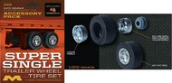 Moebius  1/25 Super Single Trailer Wheel & Tire Set (4/pk) MOE1018