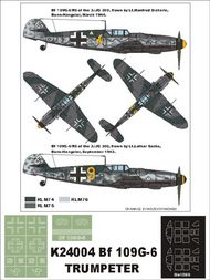 Montex Masks  1/24 Messerschmitt Bf.109G-6 2 canopy masks (exterior and interior) + 2 insignia masks MXK24004