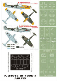 Montex Masks  1/24 Messerschmitt Bf.109E-4 2 canopy masks (exterior and interior) + 3 insignia masks MXK24015