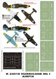 Montex Masks  1/24 Hawker Hurricane Mk.I (Finland) 2 canopy masks (exterior and interior) + 5 insignia masks MXK24018