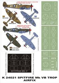 Montex Masks  1/24 Supermarine Spitfire Mk.VB Trop 2 canopy masks (exterior and interior) + 3 insignia masks MXK24021