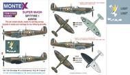 Montex Masks  1/24 Supermarine Spitfire Mk.I 2 canopy mask (inside and outside canopy frame mask) + 3 insignia masks + decals MXK24083