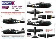 Montex Masks  1/24 Grumman F6F-5 Hellcat 2 canopy mask (outside & inside) + 4 insignia masks MXK24091