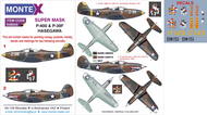 Bell P-39 Airacobra 2 canopy masks (exterior and interior) + 1 insignia masks + decals (designed to be used with HASEGAWA kits)[P-400 P-39D P-39N P-39Q P-39Q/N] #MXK48245