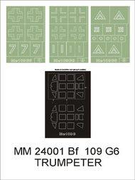 Montex Masks  1/24 Messerschmitt Bf.109G-6 2 canopy masks (exterior and interior) + 3 insignia masks MXMM24001