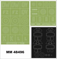 Supermarine Spitfire Mk.1 2 canopy masks (outside & inside) + 2 insignia masks #MXMM48496