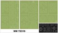 Amiot 143 1 canopy masks (outside) + 3 insignia masks #MXMM72316