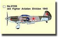 Easy Model  1/72 Soviet Yak3 303rd Fighter Aviation Division 1945 WWII MRC37226