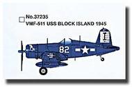 Easy Model  1/72 F4U-1 Corsair VMF-511 USS Block Island 1945 MRC37235