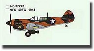 Easy Model  1/72 P-40E Tomahawk 9th FS/49th FG 1941 WWII MRC37273