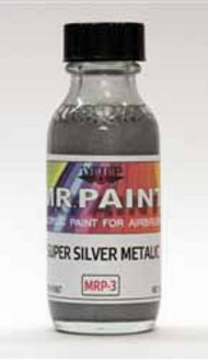 MRP/Mr Paint  Mr Paint for Airbrush Super Silver Metalic 30ml (for Airbrush only) MRP003