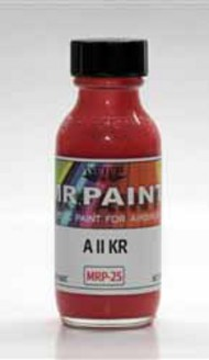MRP/Mr Paint  Mr Paint for Airbrush A ll KR Red 30ml (for Airbrush only) MRP025