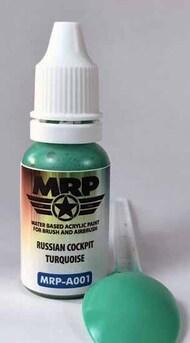 MRP/Mr Paint  MRP Aqua Paint Line Russian Cockpit Turquoise 17ml MRPA001A