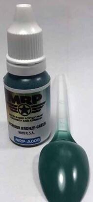 MRP/Mr Paint  MRP Aqua Paint Line WWll US - Interior Bronze-Green 17ml MRPA008A